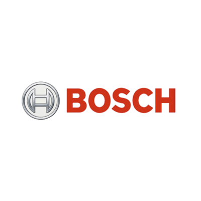 Bosch brand logo with red text and company motif.